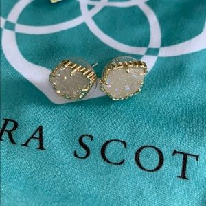 Kendra Scott Jewelry - Kendra Scott Tessa earrings iridescent drusy gold